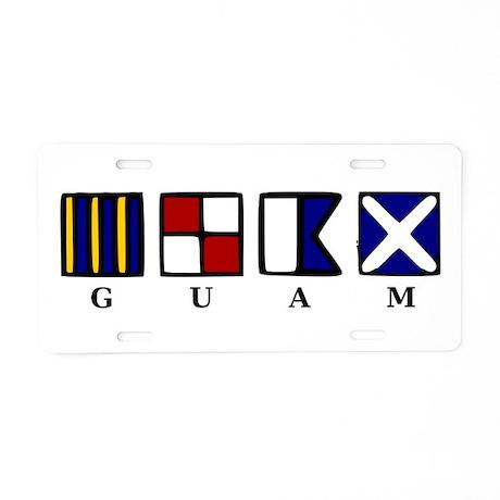 Guam Aluminum License Plate
