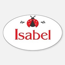 Red LadyBug - Isabel Oval Decal