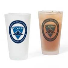 C.O.P.S. Logo Drinking Glass