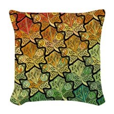 Celtic Leaf Tesselation Woven Throw Pillow