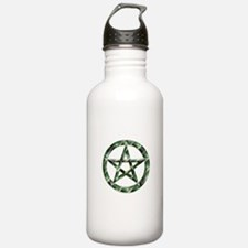 Wiccan Pentacle Green Water Bottle