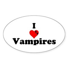I Love Vampires Decal