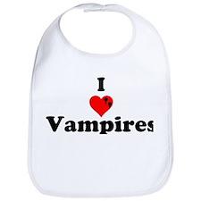 I Love Vampires Bib