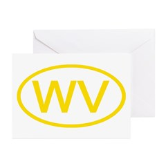 WV Oval - West Virginia Greeting Cards (Package of