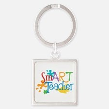 SmART Art Teacher Square Keychain