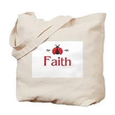 Red LadyBug - Faith Tote Bag