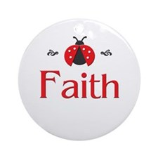 Red LadyBug - Faith Ornament (Round)