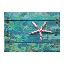Starfish and Turquoise 5'x7' Area Rug