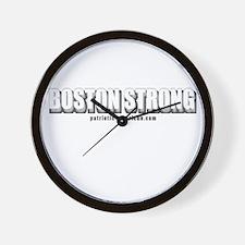 Boston Strong (Dark logo) Wall Clock