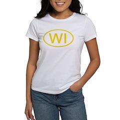 WI Oval - Wisconsin Women's T-Shirt