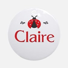 Red LadyBug - Claire Ornament (Round)