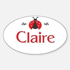 Red LadyBug - Claire Oval Decal