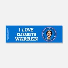 I Love Elizabeth Warren Car Magnet 10 x 3