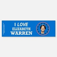 I Love Elizabeth Warren Bumper Bumper Sticker