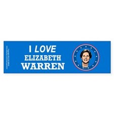 I Love Elizabeth Warren Bumper Sticker