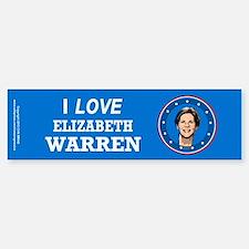 I Love Elizabeth Warren Bumper Stickers