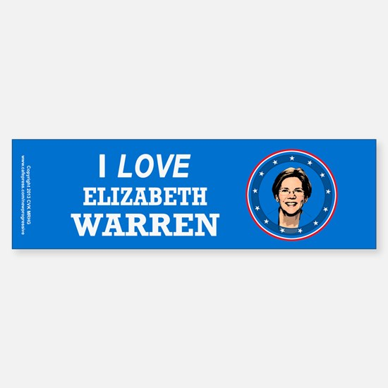 I Love Elizabeth Warren Sticker (Bumper)