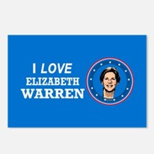 I Love Elizabeth Warren Postcards (Package of 8)