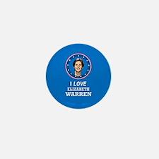I Love Elizabeth Warren Mini Button (10 pack)