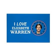 I Love Elizabeth Warren Rectangle Magnet