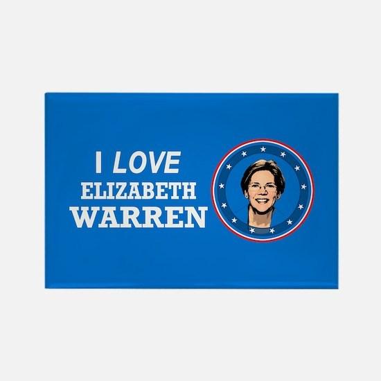 I Love Elizabeth Warren Rectangle Magnet