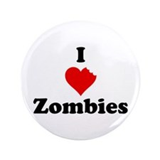 "I Love Zombies 3.5"" Button"
