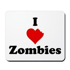 I Love Zombies Mousepad