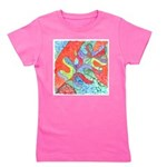 Multicolor Oak Leaf Watercolor Girl's Tee
