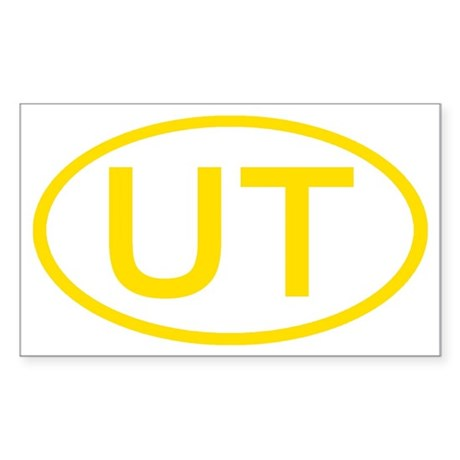 UT Oval - Utah Rectangle Sticker