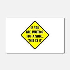 A Sign Car Magnet 20 x 12