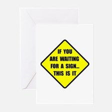 A Sign Greeting Cards (Pk of 20)