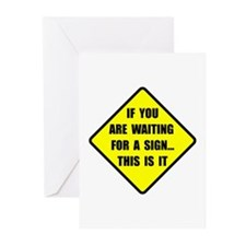 A Sign Greeting Cards (Pk of 10)