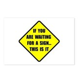 If you are waiting for a sign road sign Postcards