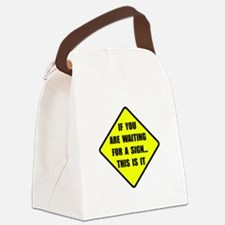 A Sign Canvas Lunch Bag