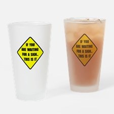 A Sign Drinking Glass