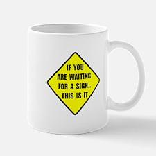 A Sign Mug