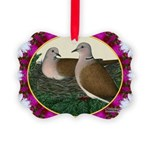 Dove Nest and Flowers Ornament