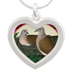 Dove Nest and Flowers Necklaces