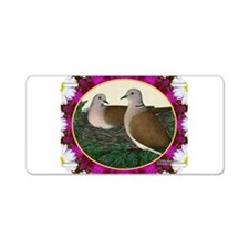 Dove Nest and Flowers Aluminum License Plate