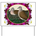 Dove Nest and Flowers Yard Sign