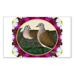 Dove Nest and Flowers Sticker