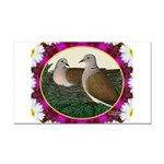 Dove Nest and Flowers Rectangle Car Magnet