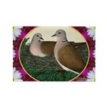 Dove Nest and Flowers Rectangle Magnet (100 pack)