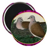Dove Nest and Flowers Magnet