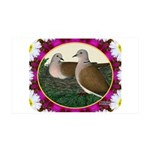 Dove Nest and Flowers Wall Decal