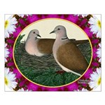 Dove Nest and Flowers Posters
