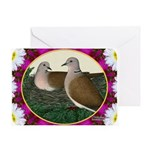 Dove Nest and Flowers Greeting Card