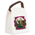 Dove Nest and Flowers Canvas Lunch Bag