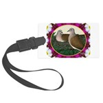Dove Nest and Flowers Luggage Tag