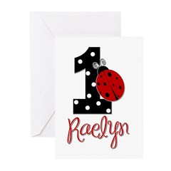 1 Ladybug RAELYN - Custom Greeting Cards (Pk of 20